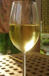 Glass of Riesling