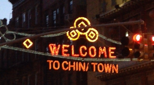 Welcome to Chinatown Manhattan New York City