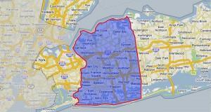 Map of Nassau County