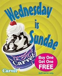 Wednesday is Sundae at Carvel