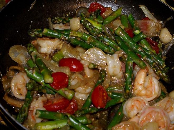 Recipe for Sesame Asparagus Shrimp (Low Carb)