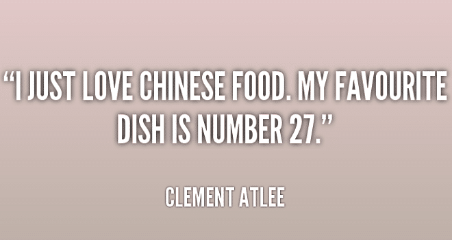 Quotable Quotes about Chinese Food