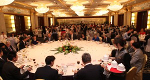 Chinese Business Meeting at Restaurant