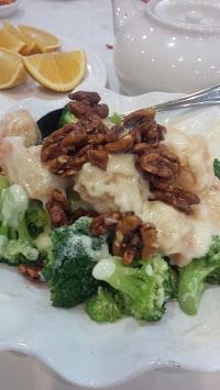 Jumbo Shrimp Mayonnaise Walnuts Broccoli