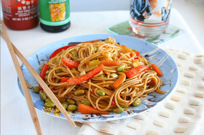 Dining on a Shoestring – Edamame Lo Mein Recipe