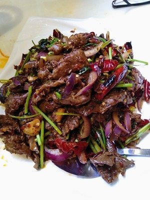 SPICY-CUMIN-SLICED-LAMB-LEG-WITH-RED-DRIED-PEPPER